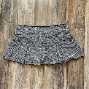 Nike Pleated Tennis Skirt White/Black Polka Dot XL